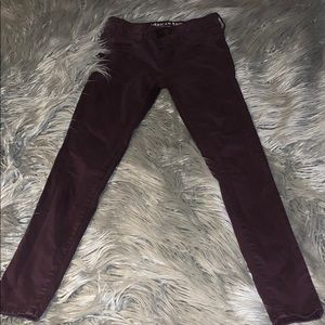 Dark maroon American Eagle Jeggings!